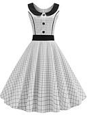 cheap Vintage Dresses-Women's Vintage A Line Dress Print White L XL XXL