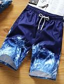 hesapli Erkek Pantolonları ve Şortları-Erkek Temel Şortlar Pantolon - Bitkiler Yonca Beyaz YAKUT XXL XXXL XXXXL