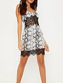 hesapli Kadın Elbiseleri-Kadın's sofistike Kılıf Elbise - Geometrik, Dantel Kırk Yama Desen Diz-boyu