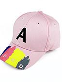 זול סטים של ביגוד לבנות-מידה אחת אודם / ורוד מסמיק / סגול כובעים ומצחיות כותנה מסוגנן / רקום אחיד / אותיות וינטאג' / פעיל / בסיסי בנים / בנות ילדים / פעוטות