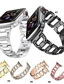 abordables Bandas de reloj inteligente-Ver Banda para Apple Watch Series 4/3/2/1 Apple Hebilla Moderna Metal / Acero Inoxidable Correa de Muñeca