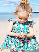 זול סטים של ביגוד לתינוקות-סט של בגדים כותנה ארוך ללא שרוולים פרחוני פעיל / בסיסי בנות תִינוֹק / פעוטות