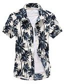 abordables Ropa interior para hombre exótica-Hombre Camisa Floral Azul Piscina XXXL