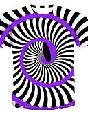 זול טישרטים לגופיות לגברים-קולור בלוק / 3D / גראפי צווארון עגול סגנון רחוב / פאנק & גותיות מידות גדולות טישרט - בגדי ריקוד גברים דפוס לבן XXXXL