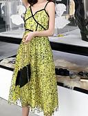 abordables Robes Femme-Femme Midi Gaine Robe Vert Claire M L XL Sans Manches