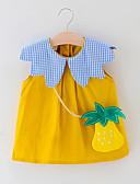 זול חולצות לתינוקות-שמלה כותנה מידי ללא שרוולים טלאים טלאים / פירות פעיל / בסיסי בנות תִינוֹק / פעוטות