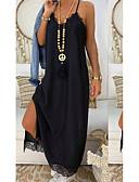 hesapli Maksi Elbiseler-Kadın's Kılıf Elbise - Solid Midi