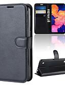 זול מגנים לטלפון-מגן עבור Samsung Galaxy A9 Star / Galaxy A10 (2019) / Galaxy A30 (2019) ארנק / מחזיק כרטיסים / נפתח-נסגר כיסוי מלא אחיד קשיח עור PU