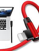 זול כבל & מטענים iPhone-תאורה כבל 1.0m (3ft) קלוע / תשלום מהיר ניילון / TPE מתאם כבל USB עבור iPad / iPhone