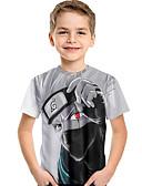 זול חולצות לבנים-טישירט שרוולים קצרים דפוס דפוס פעיל / בסיסי בנים ילדים / פעוטות