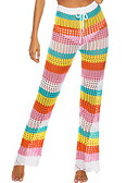 זול סרבלים ואוברולים לנשים-בגדי ריקוד נשים סגנון רחוב רגל רחבה מכנסיים - פסים קשת M L XL
