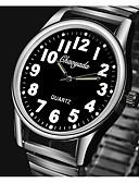 זול שעונים קוורץ-בגדי ריקוד נשים קווארץ אופנתי כסף מתכת אל חלד קווארץ לבן שחור שעונים יום יומיים יחידה 1 אנלוגי שנה אחת חיי סוללה