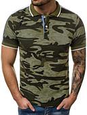 cheap Pocket Watches-Men's Cotton Slim Polo - Camo / Camouflage Print Shirt Collar Gray XL