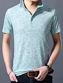 povoljno Muške polo majice-Polo Muškarci Jednobojni Kragna košulje Print Plava XL