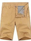 tanie Męskie spodnie i szorty-Męskie Podstawowy Szczupła Szorty Spodnie - Solidne kolory Bawełna Czarny Czerwony Khaki 34 36 38