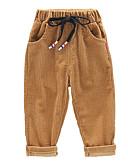levne Chlapecké kalhoty-Děti Chlapecké Vintage / Základní Jednobarevné Šňůrky Bavlna Kalhoty Černá