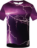 cheap Men's Tees & Tank Tops-Men's Casual / Daily Plus Size T-shirt - 3D Print Round Neck Rainbow XL / Short Sleeve
