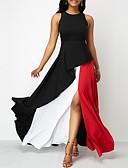 hesapli Maksi Elbiseler-Kadın's Kılıf Elbise - Zıt Renkli Maksi