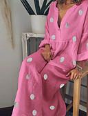 זול טישרט-מקסי מנוקד - שמלה נדן בסיסי בגדי ריקוד נשים