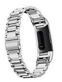זול להקות Smartwatch-צפו בנד ל Fitbit Charge 3 פיטביט רצועת ספורט / אבזם קלאסי / עיצוב תכשיטים מתכת אל חלד רצועת יד לספורט