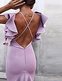 halpa Naisten mekot-Naisten Perus Swing Mekko - Yhtenäinen, Avoin selkä Röyhelö Patchwork Midi