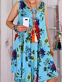olcso Női ruhák-Női Extra méret Swing Ruha - Virágos stílus, Virágos Térdig érő