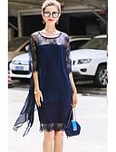 preiswerte Damen Kleider-Damen Street Schick Hülle Kleid - Spitze, Geometrisch Knielang