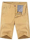 tanie Męskie spodnie i szorty-Męskie Podstawowy Szczupła Typu Chino Spodnie - Solidne kolory Bawełna Czarny Zieleń wojskowa Khaki 34 36 38
