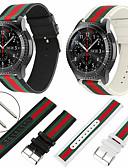 זול להקות Smartwatch-צפו בנד ל Gear S3 Frontier / Gear S3 Classic / Samsung Galaxy Watch 46 Samsung Galaxy רצועת ספורט ניילון / עור אמיתי רצועת יד לספורט