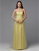 povoljno Vjenčanice-A-kroj Bez naramenica Do poda Til Prom Haljina s Perlica / Falte po TS Couture®