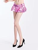 abordables Jupes-Femme Actif Mini Moulante Jupes - Couleur Pleine Rouge Rose Claire Violet L XL XXL