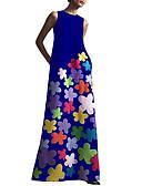 halpa Naisten mekot-Naisten Tuppi Mekko - Geometrinen Maxi