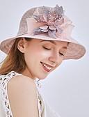 זול כובעים לנשים-כל העונות בז' אפור חאקי כובע עם שוליים רחבים כובע שמש פרחוני רשת פעיל בסיסי סגנון חמוד בגדי ריקוד נשים