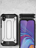 זול מגנים לטלפון-מגן עבור Samsung Galaxy Galaxy A7(2018) / Galaxy A9 (2018) / Galaxy A10 (2019) עמיד בזעזועים כיסוי מלא אחיד קשיח PC
