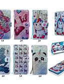 זול מגנים לטלפון-מגן עבור Samsung Galaxy S9 / S9 Plus / S8 Plus מחזיק כרטיסים / עם מעמד / נפתח-נסגר כיסוי אחורי / כיסוי מלא פרפר / חיה / פרח קשיח עור PU