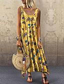 povoljno Maxi haljine-Žene Osnovni Korice Haljina Cvjetni print Geometrijski oblici Maxi