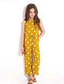 זול שמלות לבנות-מכנסיים כותנה מנוקד בנות ילדים