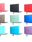 זול מגן מסך נייד-לקרצף צבע מוצק עבור macbook Pro האוויר 11-15 המחשב מקרה 2018 2017 לשחרר a1989 / a1706 / a1708 עם רצועת מגע pvc פגז קשה