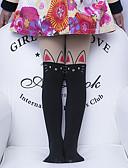זול הלבשה תחתונה וגרביים לבנות-M / L לבן / שחור / ורוד מסמיק גרביים & גרביונים פוליאסטר סקסית אחיד מתוק בנות ילדים 5 סטים