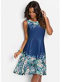 זול שמלות מקרית-עד הברך פרחוני הדפס נמר, פרחוני - שמלה סווינג בגדי ריקוד נשים