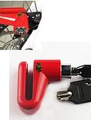 זול מחזיקים ומרכבים-מנעול אופניים נעילת בלם דיסק אבטחת נעילה נגד גניבה בטיחות עבור אופני כביש אופני הרים אופניים הילוך קבוע רכיבת אופניים מתכת שחור אדום 1 pcs