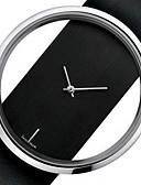 hesapli Kadın Saatleri-Çiftlerin Elbise Saat Quartz Resmi Stil Deri Siyah / Beyaz Gündelik Saatler Analog Moda - Beyaz Siyah Bir yıl Pil Ömrü / Paslanmaz Çelik