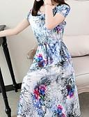 voordelige Damesjurken-vrouwen midi chiffon jurk wit xl xxl xxxl xxxxl