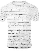 povoljno Muške majice i potkošulje-Veličina EU / SAD Majica s rukavima Muškarci - Osnovni Dnevno 3D Okrugli izrez Obala / Kratkih rukava