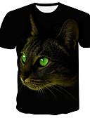 זול זנטאי (חליפות גוף)-3D / גראפי / חיה צווארון עגול רוק / פאנק & גותיות מידות גדולות טישרט - בגדי ריקוד גברים דפוס שחור / שרוולים קצרים