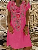 povoljno Ženske haljine-Žene Majica Haljina - Cvijetan V izrez Do koljena