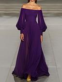 זול שמלות ערב-גזרת A סירה מתחת לכתפיים שובל סוויפ \ בראש שיפון ערב רישמי שמלה עם על ידי LAN TING Express
