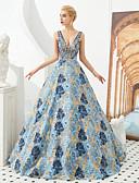 preiswerte Abendkleider-Ballkleid Tiefer Ausschnitt Boden-Länge Jersey Strahlend & Funkelnd Formeller Abend Kleid mit Kristall Verzierung durch LAN TING Express