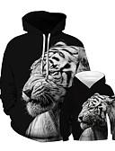 halpa Perheiden vaatesetit-Isä ja minä Punk & Goottityyli Eläin Patchwork Pitkähihainen Normaali Normaali Huppari ja college Musta
