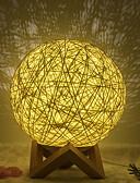 זול כבל & מטענים iPhone-1pc לילה אור הירח המנורה צהוב USB יצירתי<= 36 v =